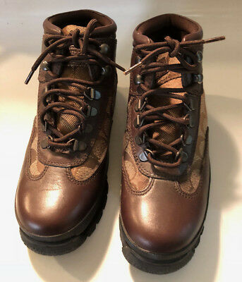 Coach New Womens Size 5 M Boots Signature Brown Leather
