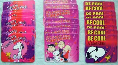 Peanuts 15 Loose Valentine's Day School Lollipop Cards (No Candy) New