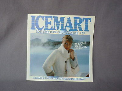 ICEMART Shopping Guide 1983 Island Iceland Airport