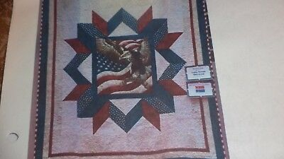MAJESTIC EAGLE STAR Quilt Top - Machine pieced, Made in the USA