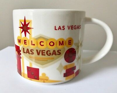 2014 STARBUCKS Welcome LAS VEGAS You Are Here MUG Cup YAH