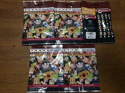 Disney Russian NESTING DOLLS 5 PACKS NEW 5-pin Collectible Mystery Pack Pins