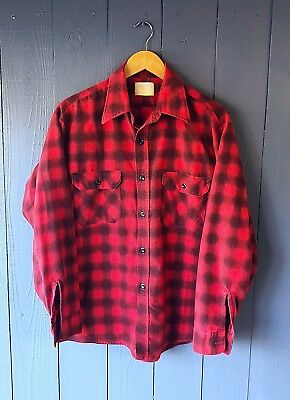 • Vintage Flannel Shirt Penney's 1970's Rugged XL •