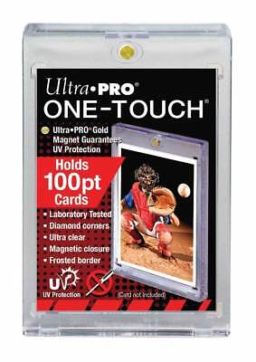 (10) Ultra Pro One Touch Magnetic Card Holders 100pt w UV Protection Thick Cards