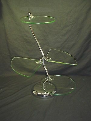 Mid Century Modern Chrome & Glass Display Stand Retail Display Stand