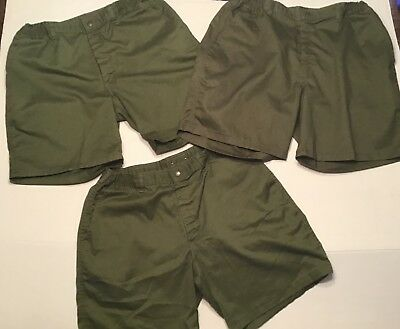 Boy Scouts of America BSA Official Mens Shorts Size 34 Green 3 Pairs