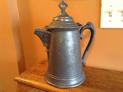 Antique silverplate WR New York large ornate water pitcher