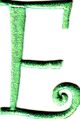 """Lime Green Script Letter /""""M/"""" Iron On Embroidered Applique SCRIPT LETTERS"""