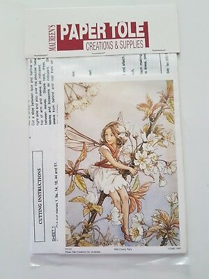 Paper Tole Kit With Instructions - Wild Cherry Blossom Fairy