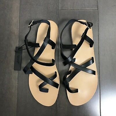 e226cd6e413c55 NEW TOPSHOP BLACK Hotstuff Leather HICCUP Strappy Sandals Toe Ring ...