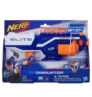 Nerf N-Strike Elite Disruptor Dart Gun Toy Fires 6 Darts up to 90 Feet NEW
