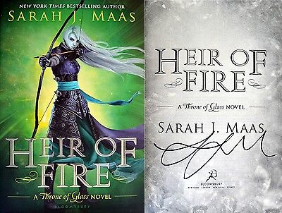 Sarah J. Maas~SIGNED~Heir of Fire~1st Edition HC~Throne of Glass Book 3+Photos!