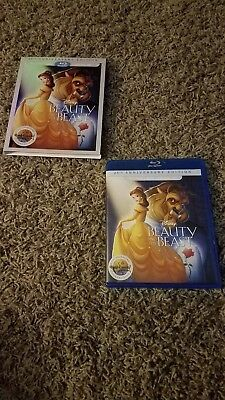 Beauty and the Beast (Blu-ray/DVD, 2016, 2-Disc Set) 25th Anniversary Ed. w/slip