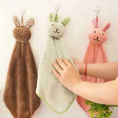 Cute Animal Hand Towel Cartoon Hanging Baby Face Kids Washcloth Bath Water Dry J