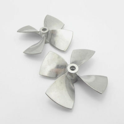 4-Blades Propeller Metal For Shaft RC Boat Scale Marine Zinc Alloy Accessories