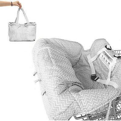 Baby Shopping Trolley Cart Seat Pad Child High Chair Cover Protector Foldable e3