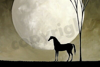 Horse vision inspirational moon art Criswell ACEO Giclee print of painting gift