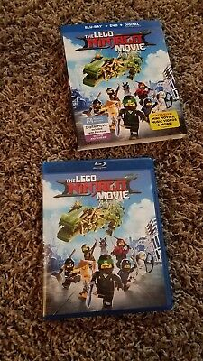 The LEGO NINJAGO Movie (Blu-ray Disc/DVD 2-Disc Set, 2017)w/slipcover no digital