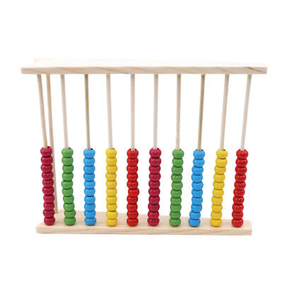 Wooden Abacus Beads Counting Number Preschool Kid Learns Math Education Toy jian