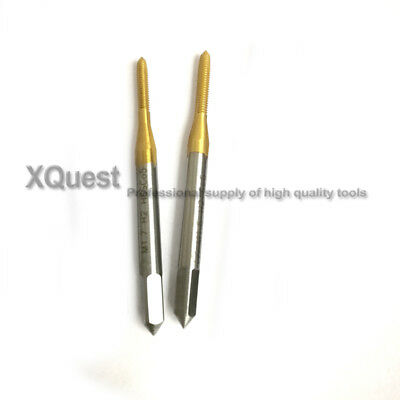 TIN HSSCO Hand tap M0.8M0.9M1M1.1M1.2M1.4M1.5 Metric Thread Taps M1.6M1.7M1.8M2