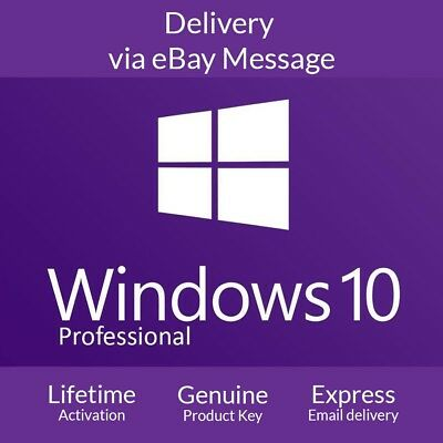 Microsoft Windows 10 Pro Professional 32 64 bit LICENSE KEY 15 MINS DELIVERY