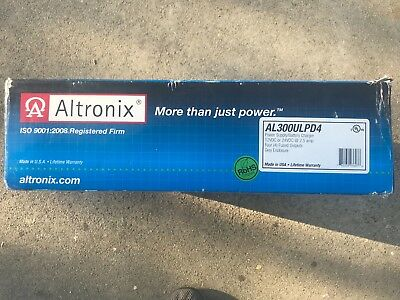ALTRONIX-Power Supply Charger,4 Fused Outputs,12/24VDC@2.5A,115VAC AL300ULPD4
