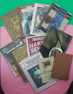 10 Books LEATHER WORK TOOLS CARVING DESIGN SEWING CASES (STOHLMAN) BUCKSKINNING