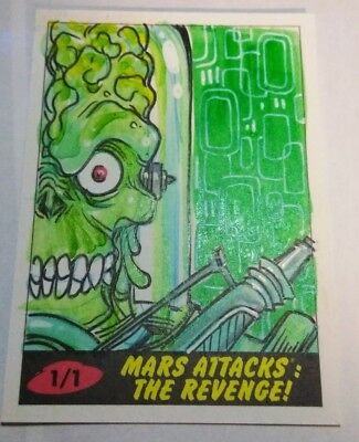 2017 Topps Mars Attacks The Revenge SKETCH CARD