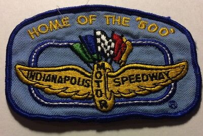 """Indianapolis Motor Speedway Shirt PATCH Home Of The """"500""""Brickyard Used"""