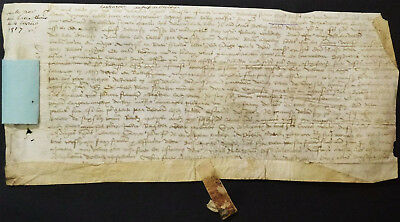 1517 February 4 Old French Vellum document on Parchment reign of King Francis I