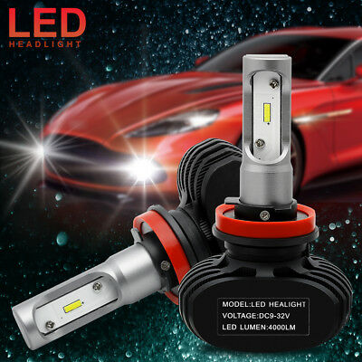 2x H8 H9 H11 50W Led Headlight Bulbs All In One CSP Lumileds 6000K 8000LM White