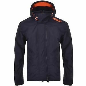 Superdry Mens Pop zip hood arctic windcheater coat Blue (M50009ZPF6-FX7)