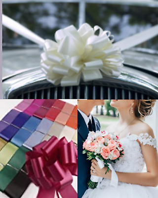 Wedding or prom car Decoration. Car Kits have 1 to 5 Large Bows & 8m Ribbon
