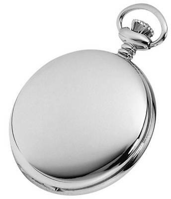 Woodford Plain Chrome Mechanical Pocket Watch - Silver