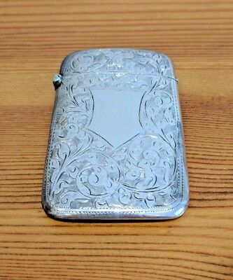 1902 Sterling Silver Card Case - William Henry Sparrow