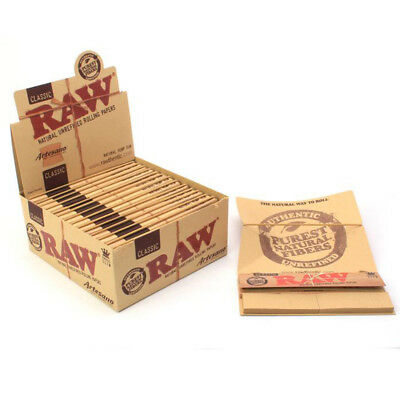 RAW Classic Artesano King Size Rolling Papers 15 Booklets (Full Box)