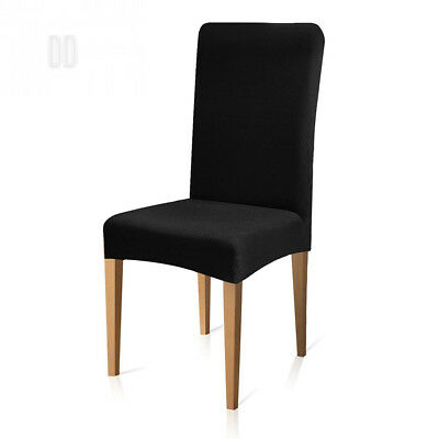 Subrtex Stretch Knit Dining Chair Covers Removeable High Back Slipcovers for...