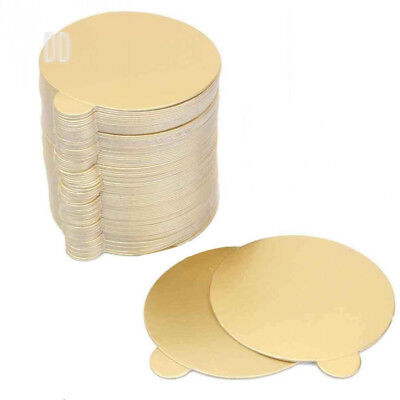 Witch's Magic House 100Pcs/Set Round Mousse Cake Boards Gold Paper Cupcake...