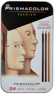 Sanford Wood Prismacolor Premier Colored Pencils 24 kg Portrait
