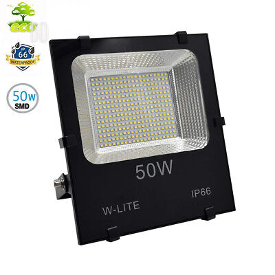 W-LITE (IP66 Waterproof) Upgraded 50W LED Floodlight Outdoor Lighting...