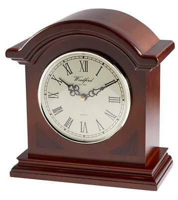 Woodford Westminster Chime Mantel Clock - Brown/Cream