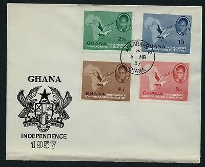 GHANA 1957 Independence First Day Cover ADABRAKA CDS FDC USED