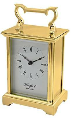 Woodford Brass Carriage Clock - Gold