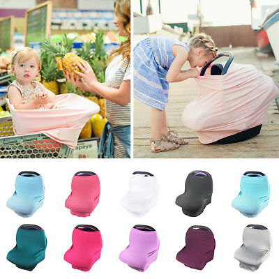 Multi-Use Stretchy Newborn Infant Nursing Towel Baby Car Seat Canopy Cart Covers