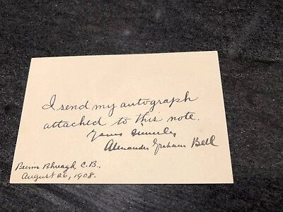Alexander Graham Bell Authentic Autograph - Inventor of the Telephone