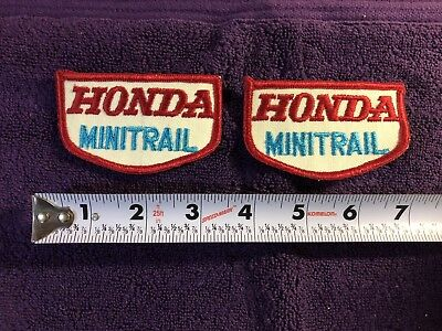 NOS HONDA MINITRAIL Vintage Jacket Hat Patches 1 Pair Circa 1970's