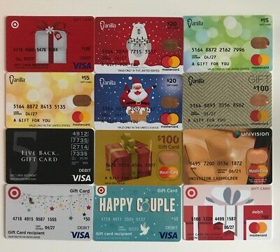 Debit Gift Cards 12 different new collectible gift cards NO VALUE!
