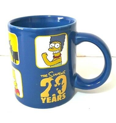 The Simpsons 20th Years Ceramic Coffee Tea Cup Collectable Mug Rare