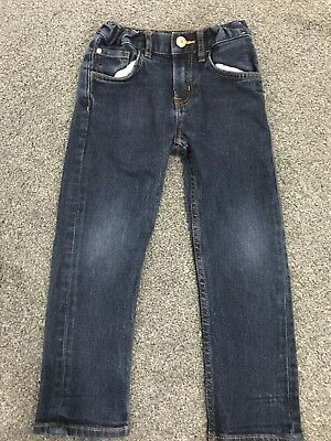 Boys H&m Blue Jeans Age 4-5 Years Uk