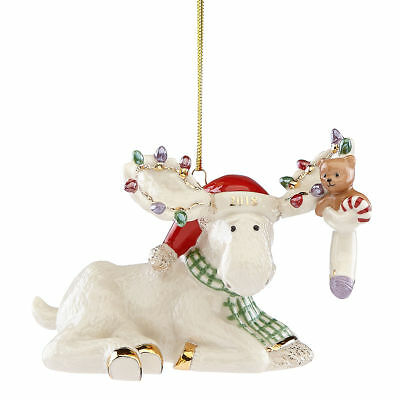 2018 Marcel's Christmas Stocking Moose Ornament by Lenox ~ NIB